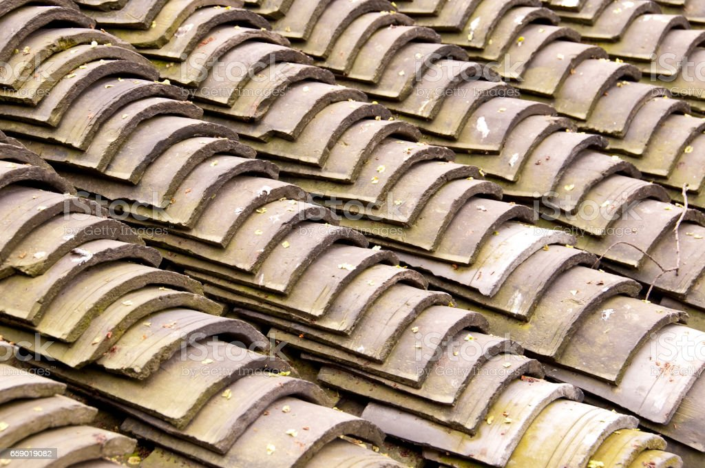 Traditional chinese roof tiles close up royalty-free stock photo