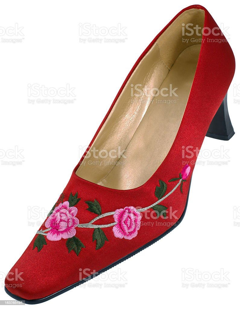 traditional chinese shoe royalty-free stock photo