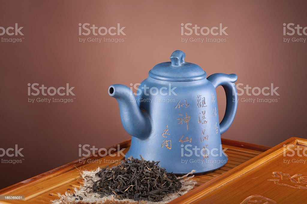 Traditional chinese teapot stock photo