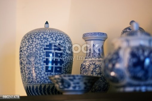 istock Traditional Chinese vase 590241478
