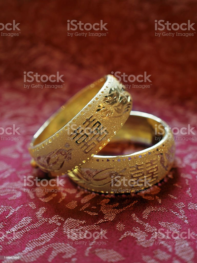 Traditional chinese wedding bangles royalty-free stock photo