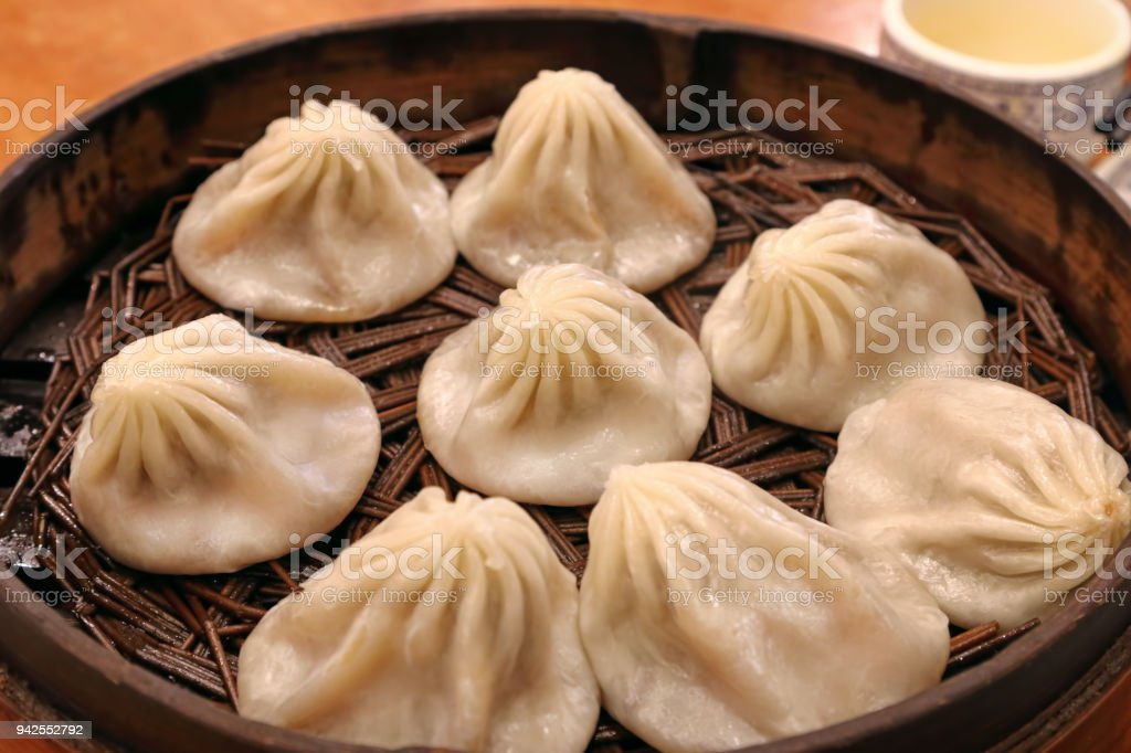 Traditional Chinese Xiaolongbao dumplings stock photo