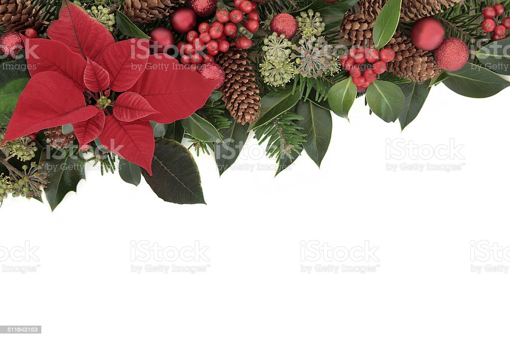 Traditional Christmas Border stock photo