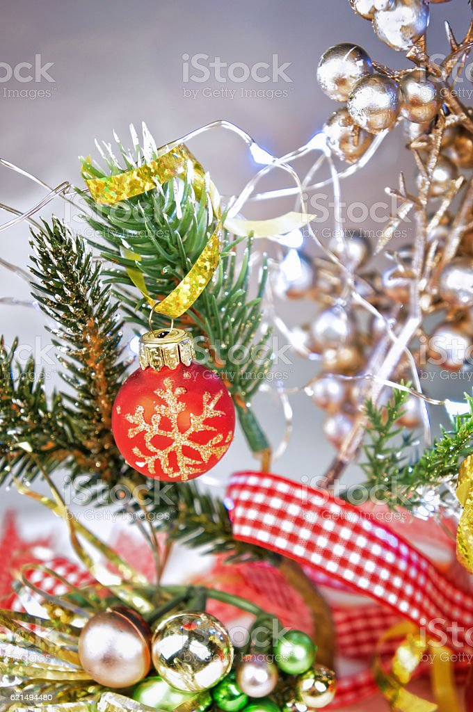Traditional Christmas  decorations closeup foto stock royalty-free