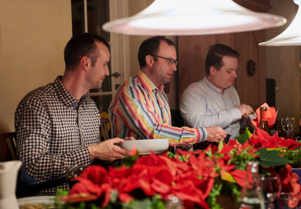 Traditional Christmas dinner stock photo