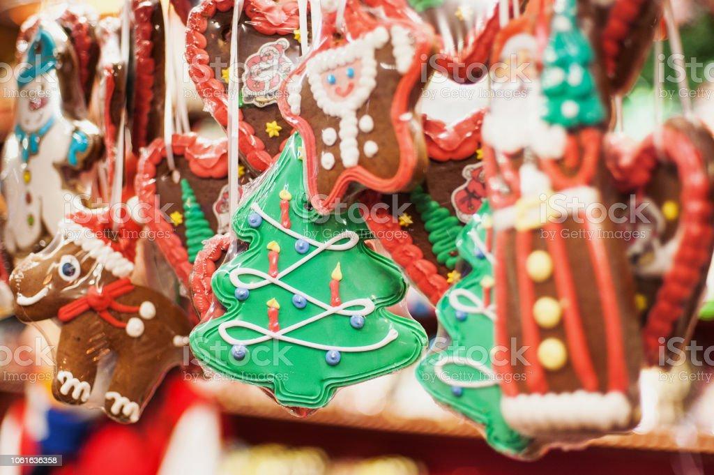 Traditioneller Weihnachtsmarkt Messe in Europa - Lizenzfrei Baum Stock-Foto