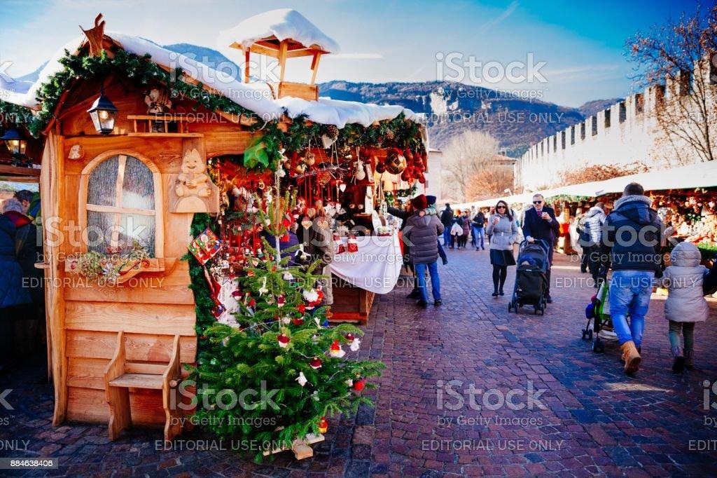 traditional Christmas market. stock photo