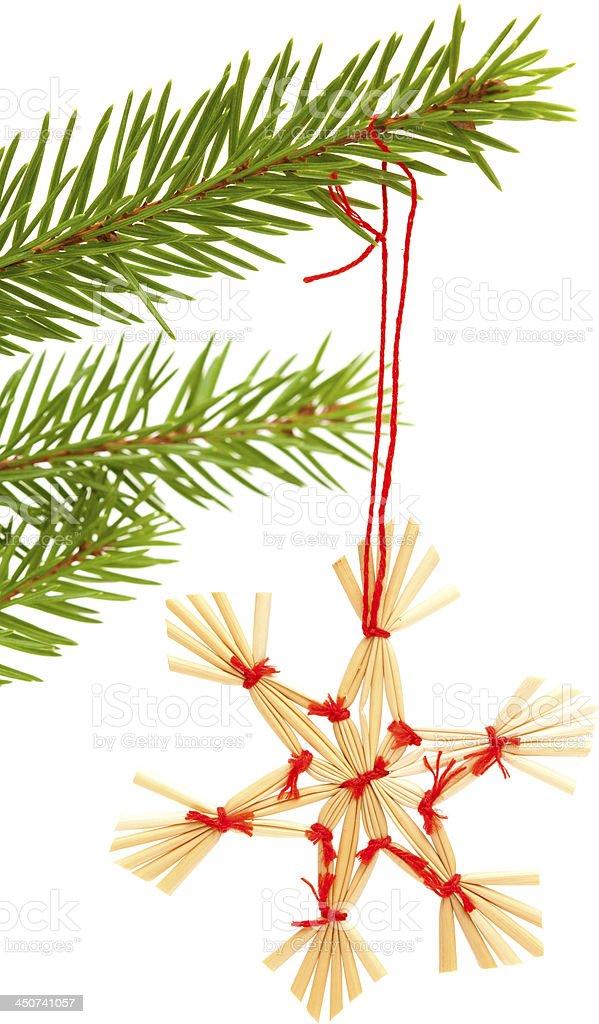 traditional Christmas ornaments stock photo
