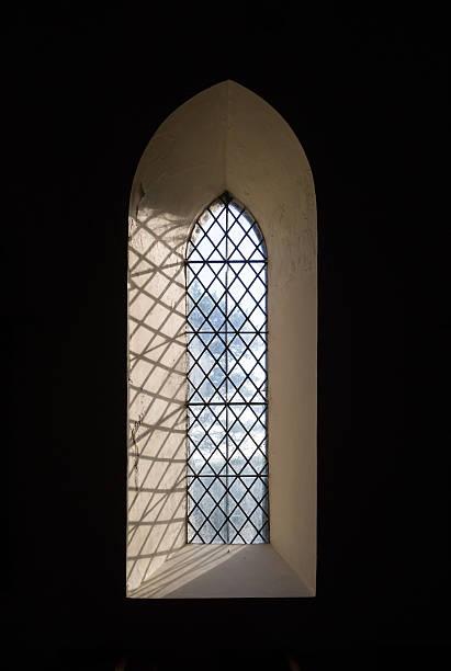 Traditional Church Window stock photo