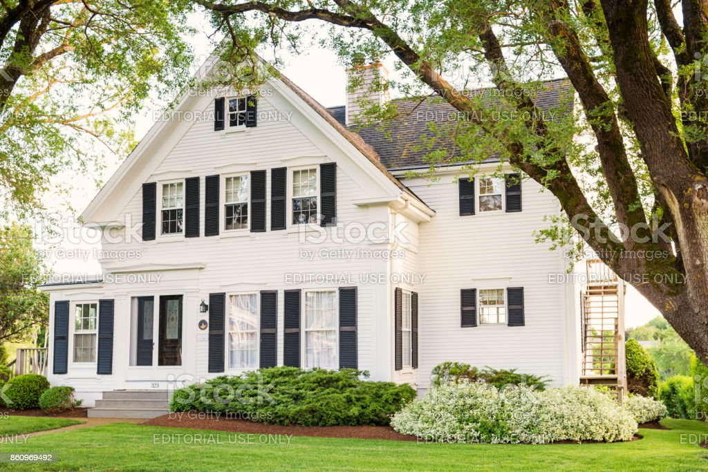 Traditional clapboard house in Chatham Massachusetts USA stock photo