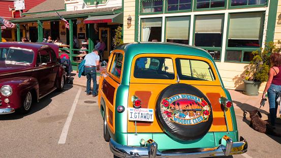 Cayucos car show. Classic Car Show, an annual tradition in downtown Cayucos. Cayucos, California/USA - November 2, 2019