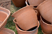Traditional pottery products at the handicraft festival