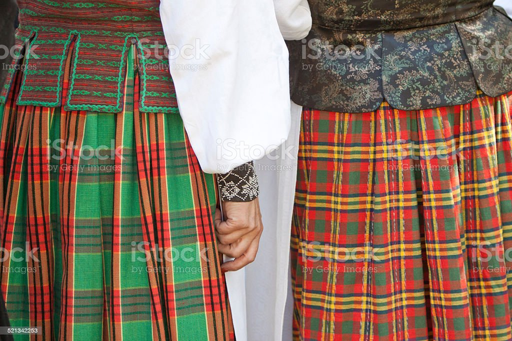Traditional clothes stock photo