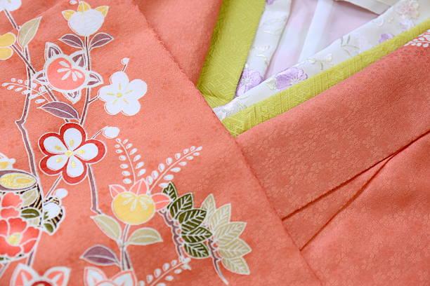 traditional clothing of japan - kimono stock-fotos und bilder