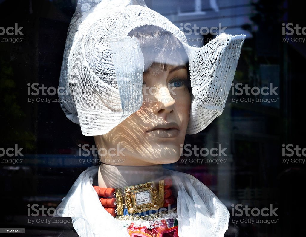 Traditional clothing of the Netherlands stock photo
