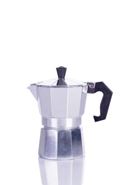 traditional coffee maker - argento metallo caffettiera foto e immagini stock