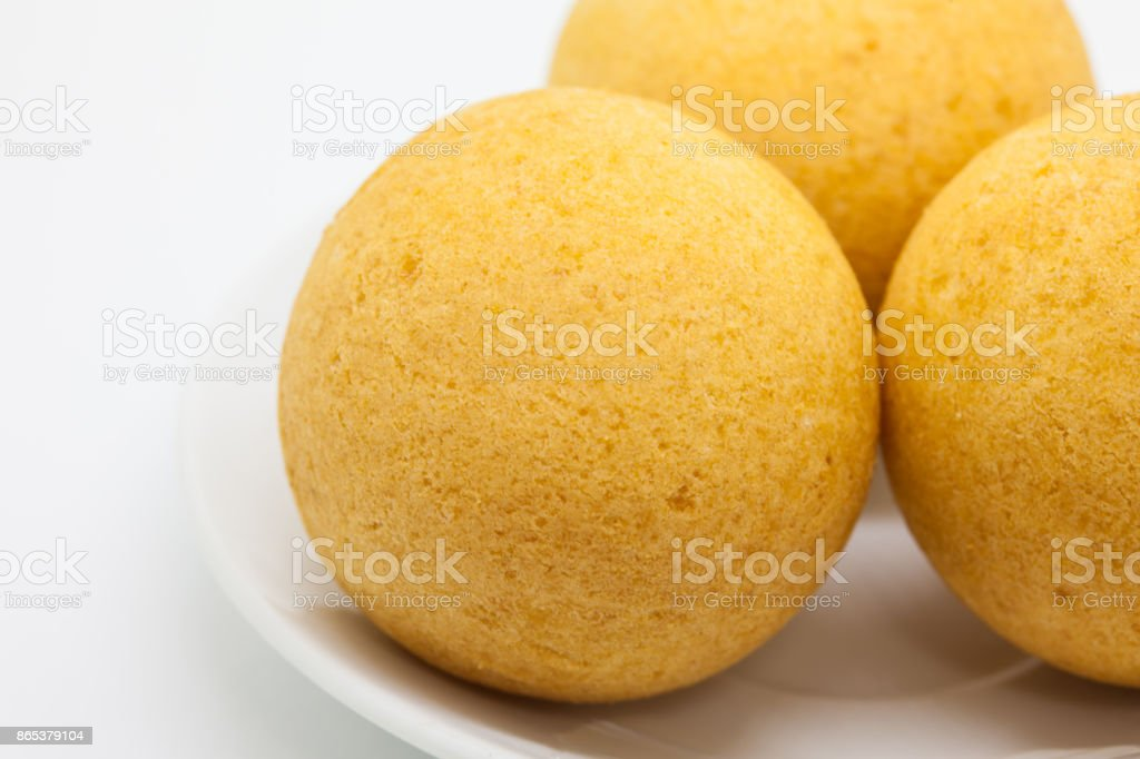 Traditional Colombian buñuelos (Deep Fried Cheese Bread) stock photo