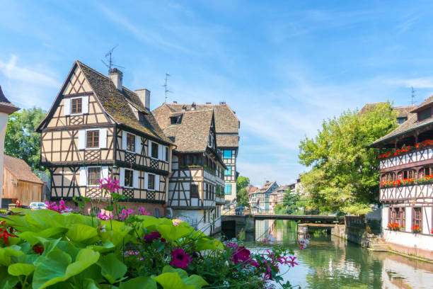 Traditional colorful houses in La Petite France, Strasbourg, Alsace, France - foto stock