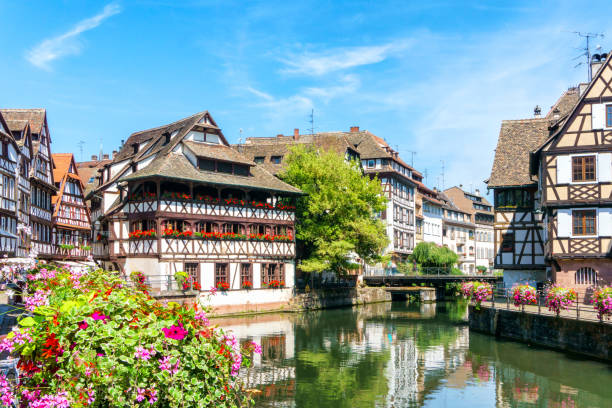 Traditional colorful houses in La Petite France, Strasbourg, Alsace, France Traditional colorful houses in La Petite France, Strasbourg, Alsace, France strasbourg stock pictures, royalty-free photos & images