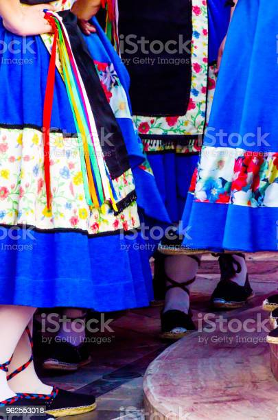 Foto de Sapatos Coloridos Tradicionais Para Trajes Folclóricos Em Espanha Sapatos De Dança e mais fotos de stock de Adulto
