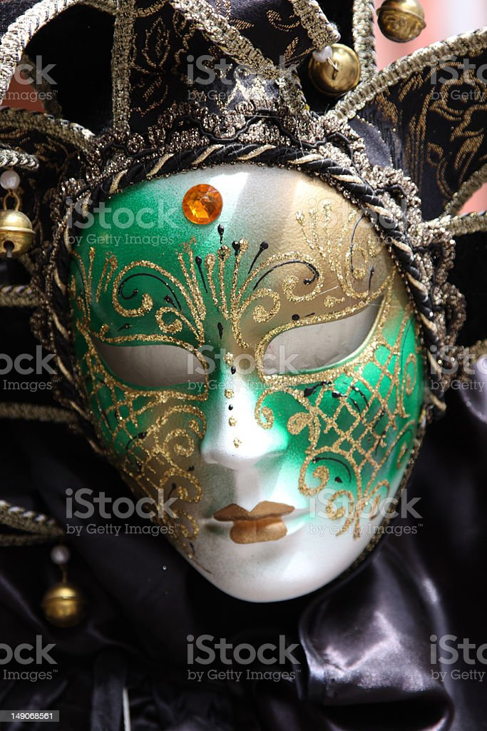 Traditional colorful Venice mask royalty-free stock photo