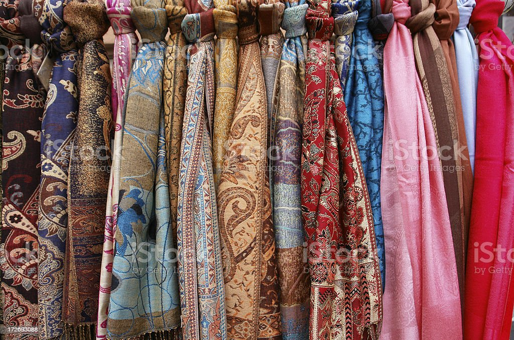 Traditional Colourful Scarfs royalty-free stock photo