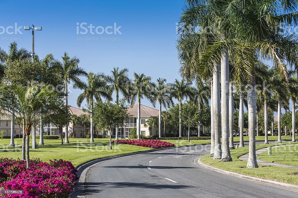 Traditional community in Naples, Florida stock photo