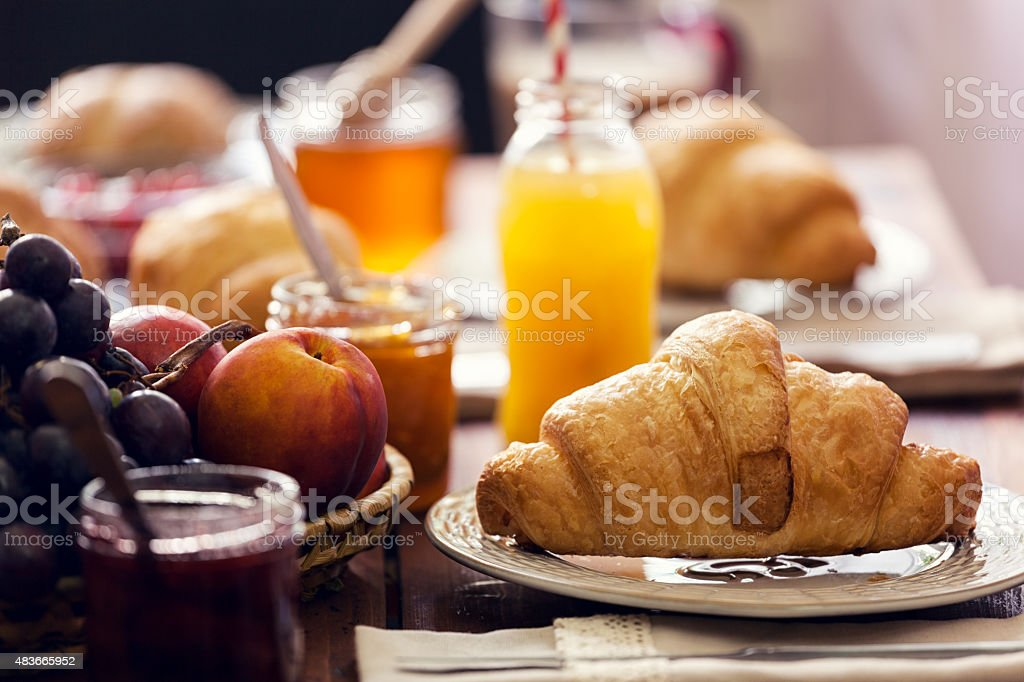 Traditional Continental Breakfast bildbanksfoto