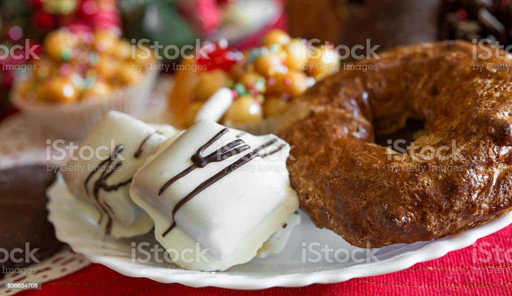 traditional cookies of Neapolitan food stock photo