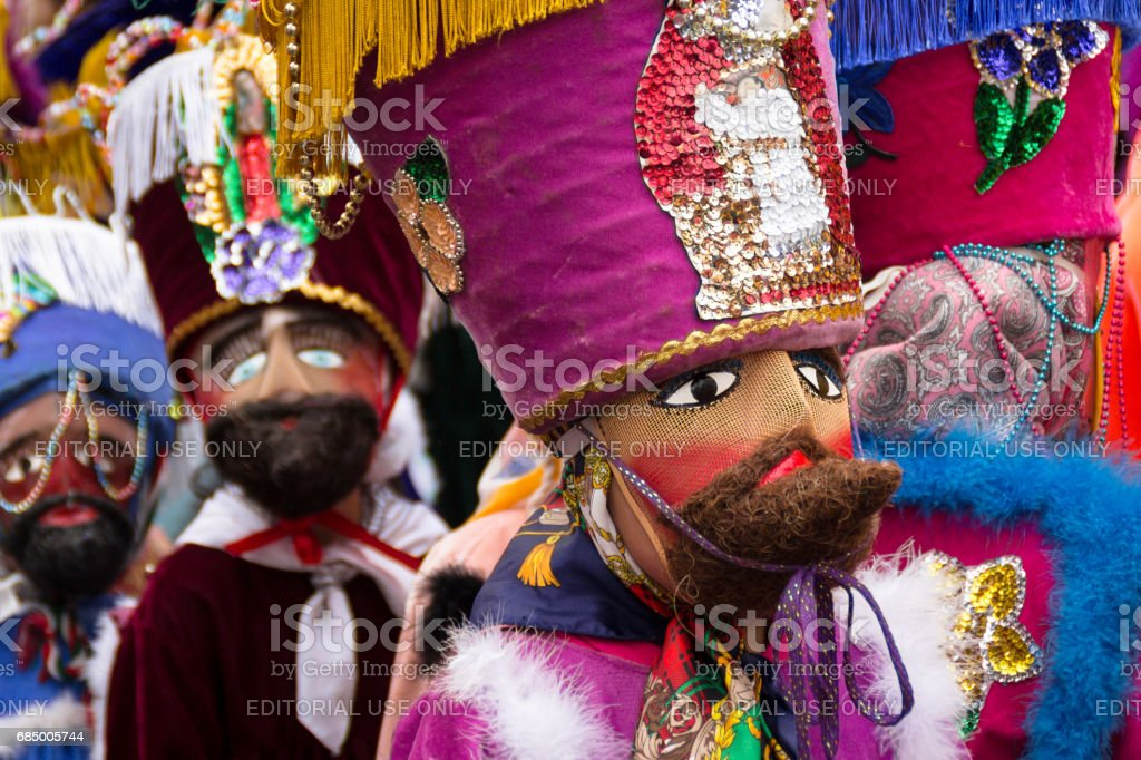 Traditional costumes at mexico stock photo