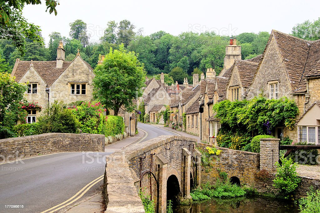 Traditional Cotswold village, England stock photo