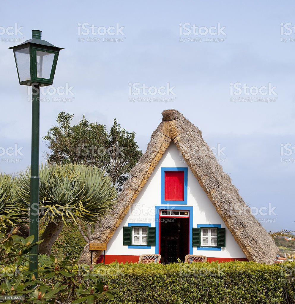 Traditional cottage in Santana, Madeira island, Portugal royalty-free stock photo