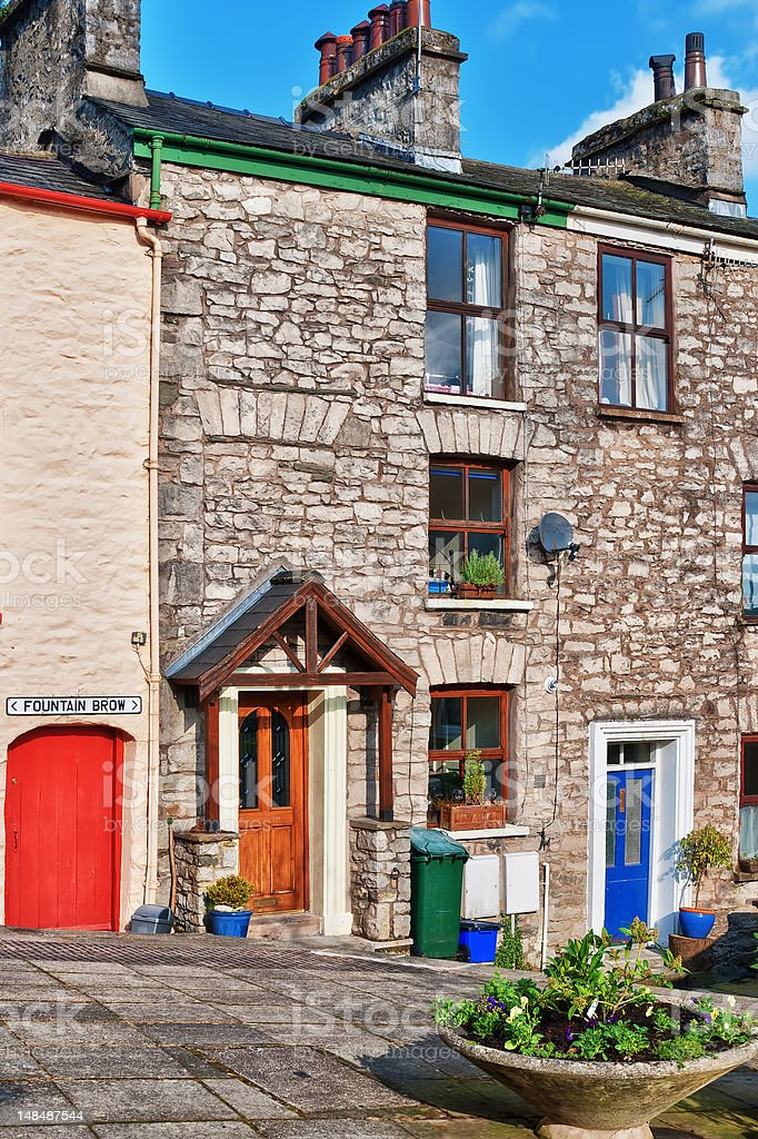 Traditional Cottages In Kendal, Cumbria stock photo