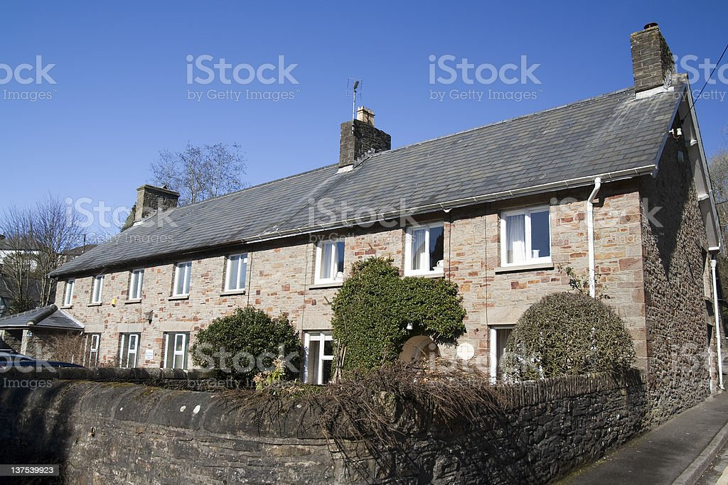 Traditional Cottages stock photo