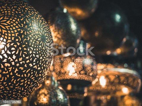 994119256istockphoto Traditional crafted lamps on a market 1044735260