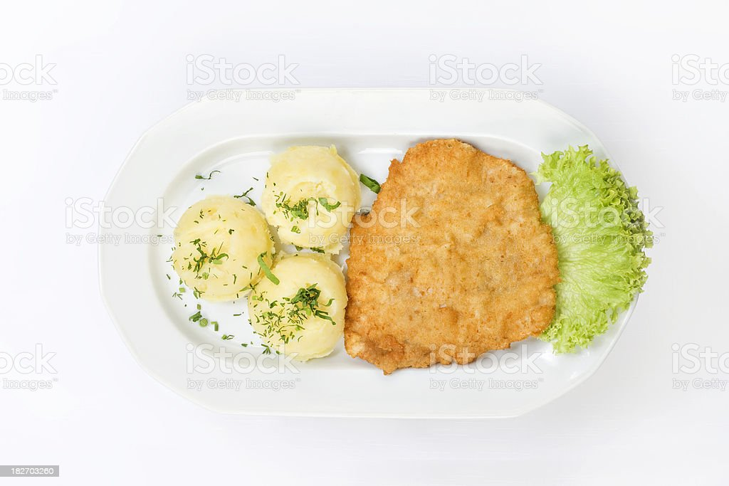Traditional cuisine: pork chop royalty-free stock photo