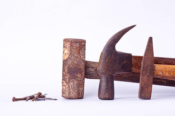 Traditional curved claw hammer,Tack hammer, Sledge hammer, nail tack – Foto