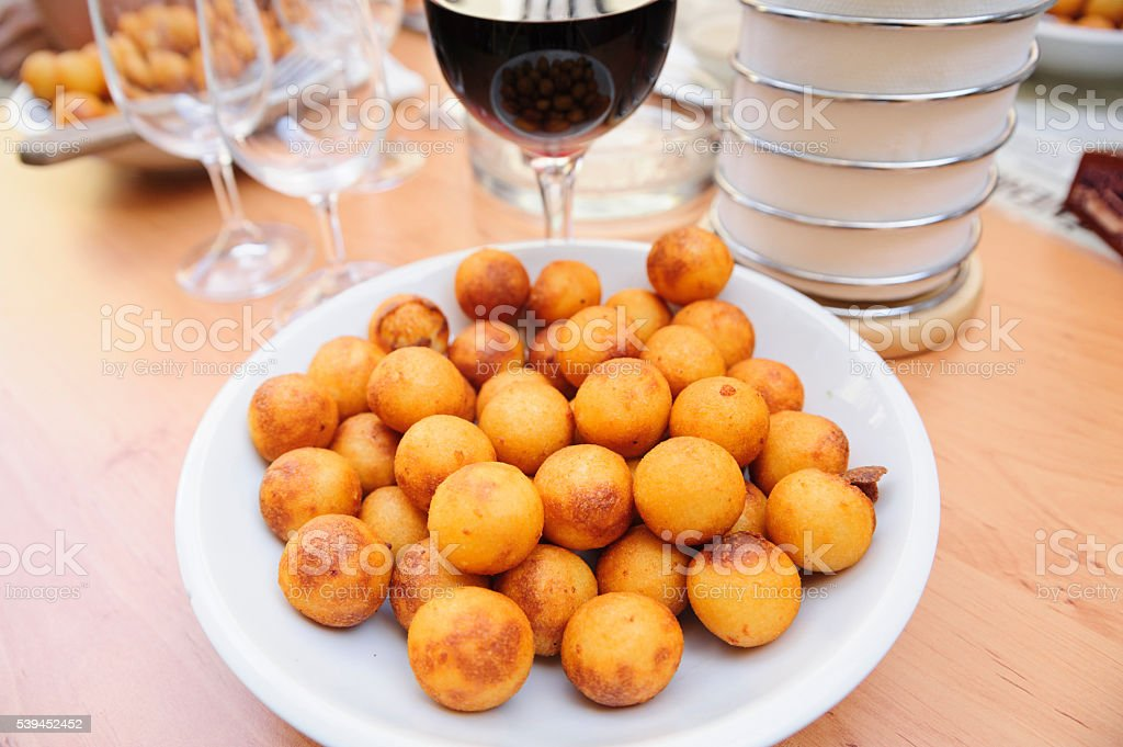 Traditional Czech croquettes stock photo