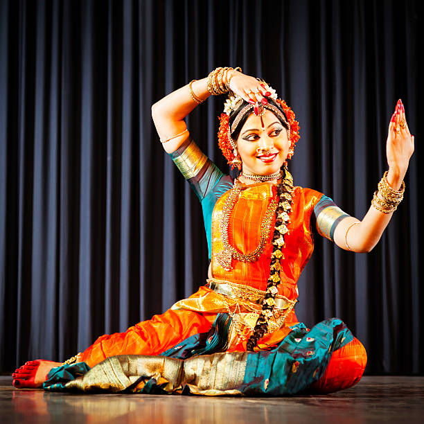 traditional dancer in india - classical style stock photos and pictures