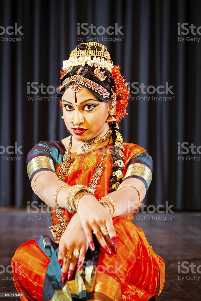 Traditional dancer in India royalty-free stock photo