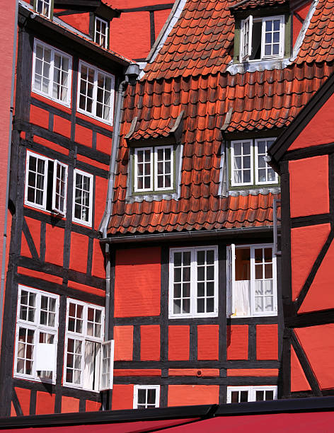 Traditional Danish House stock photo
