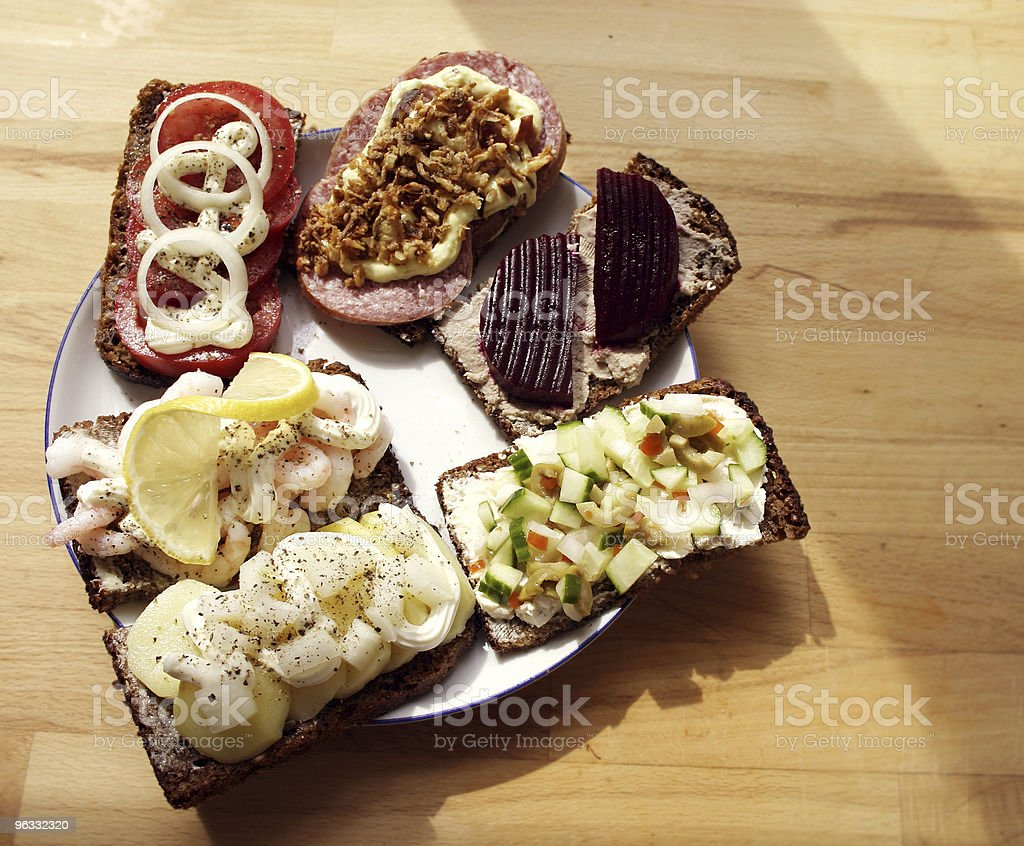 Traditional Danish lunch stock photo