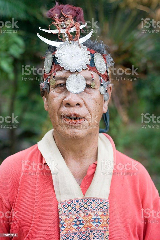 Traditional Dawan elder from Timor royalty-free stock photo