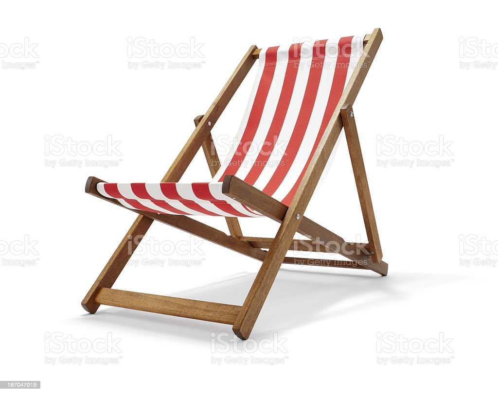 Traditional Deck Chair stock photo