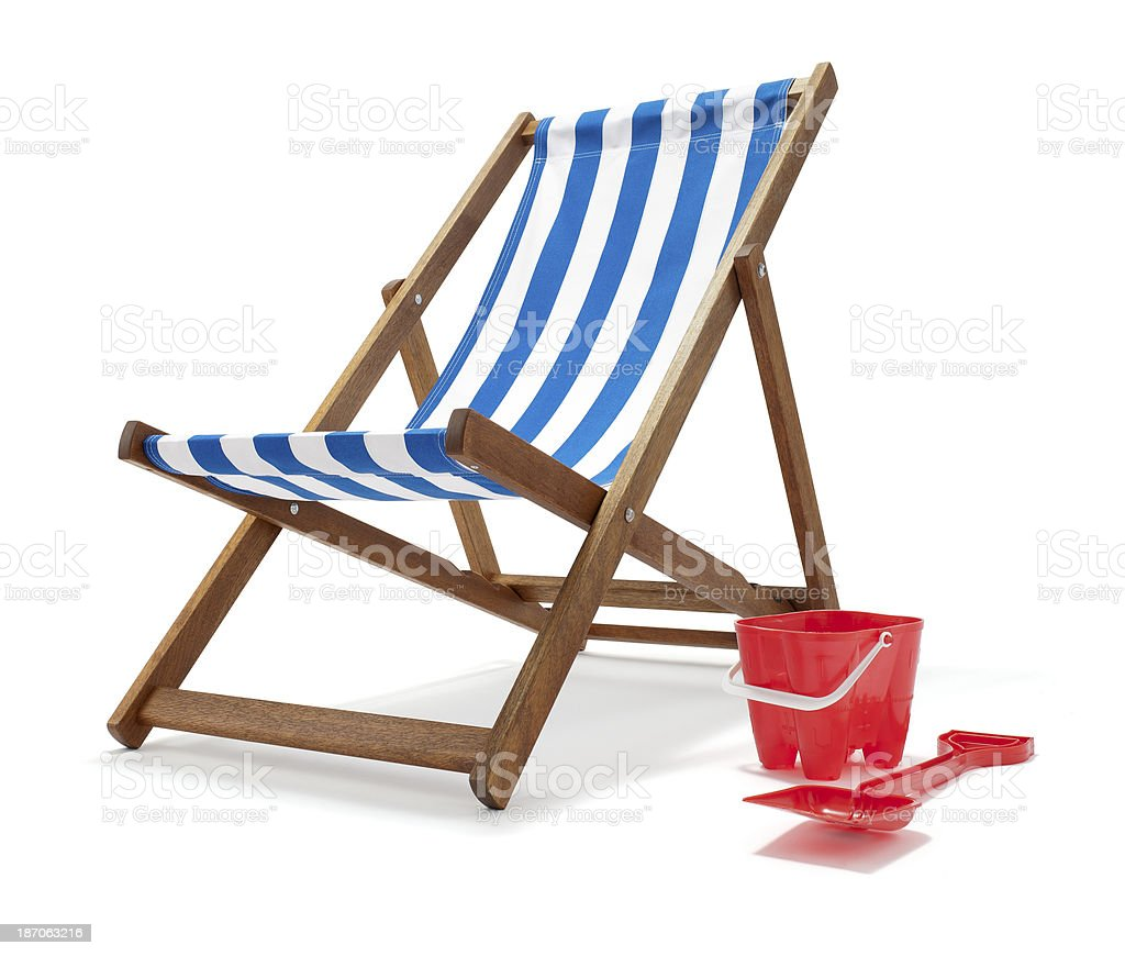 Traditional Deck Chair royalty-free stock photo