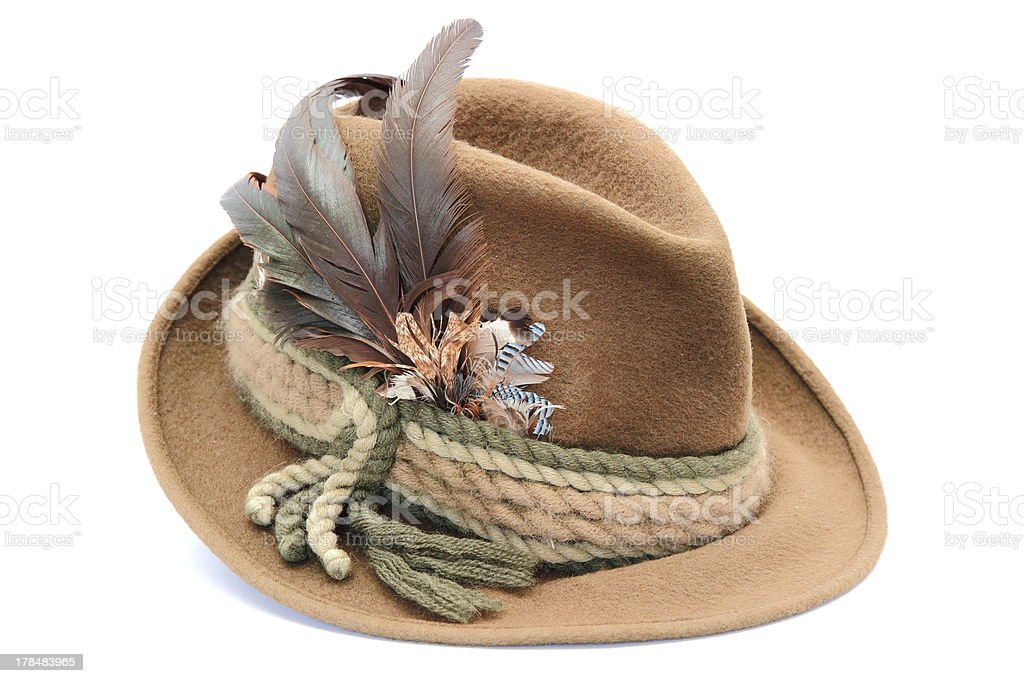 traditional decorated hunting hat royalty-free stock photo