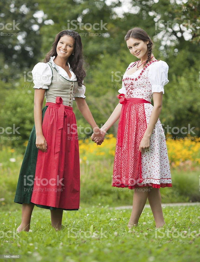 Traditional Dirndl, Oktoberfest - Outfoor Fun (XXXL) stock photo