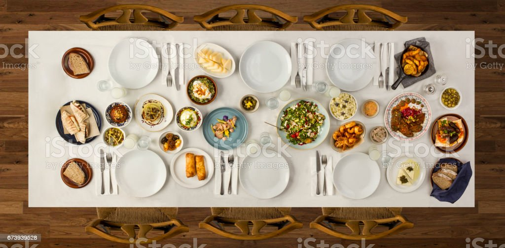 traditional dishes - foto de stock