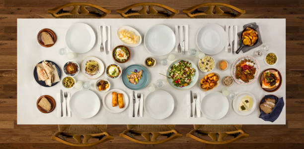 traditional dishes - ramadan stock photos and pictures