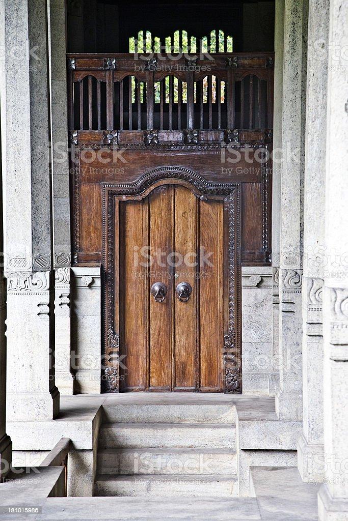 Traditional Door - Kandy, Sri Lanka royalty-free stock photo